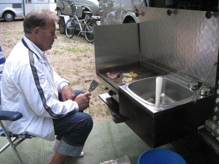 Cuisine Ext Rieure Du Car Au Camping Car